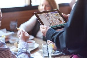 Digital Dining handheld POS On Apple iPad