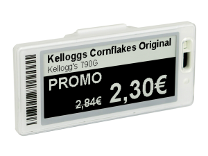 Electronic shelf labels improve retail efficiency by increasing accuracy and labour reduction.