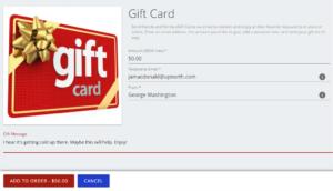 Global Restaurant Online Ordering eGift Virtual Gift Card