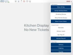 Kitchen Display System Configuration Menu