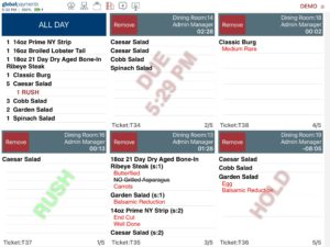 Kitchen Display System Order Status Indicators